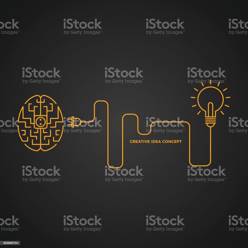 Creative idea concept, brainstorm vector illustration vector art illustration