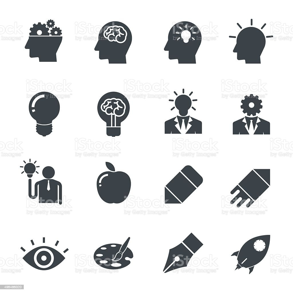 Creative Idea Icon. vector art illustration
