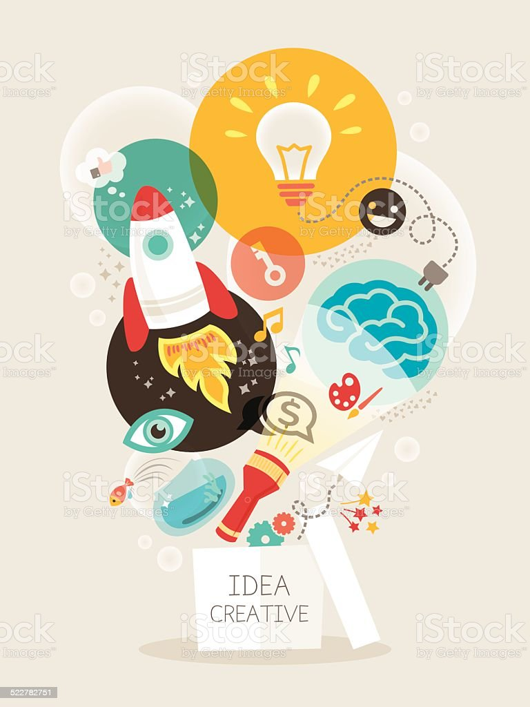 Creative idea Illustration vector art illustration