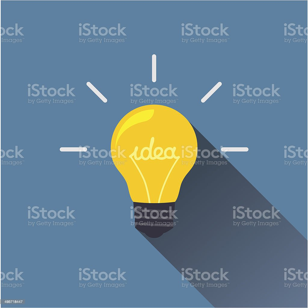 Creative idea in light bulb shape as inspiration concept. vector art illustration