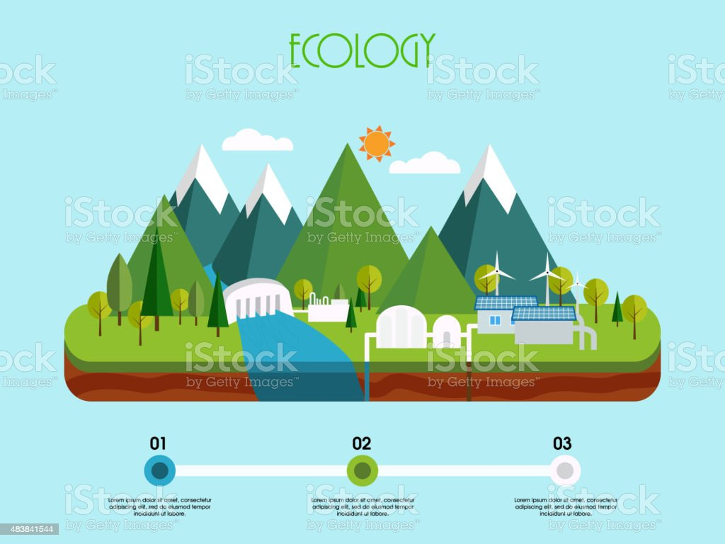 Creative infographic elements for ecology concept. vector art illustration