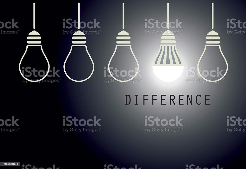 Creative Led Light Bulb Idea vector art illustration