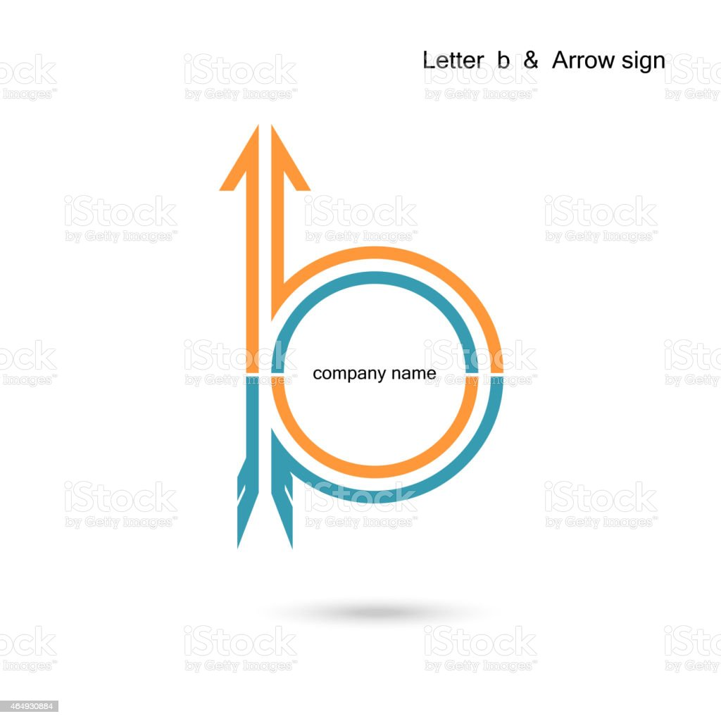 Creative letter B icon abstract design vector template. vector art illustration