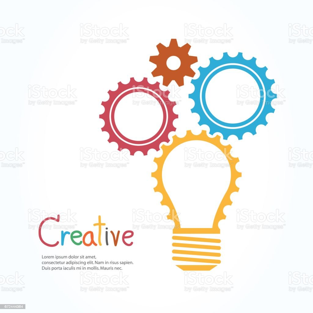 Design banner template - Creative Light Bulb And Gear Abstract Vector Design Banner Template Royalty Free Stock Vector