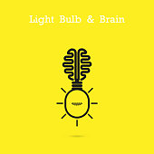 Creative light bulb and gear abstract vector design banner
