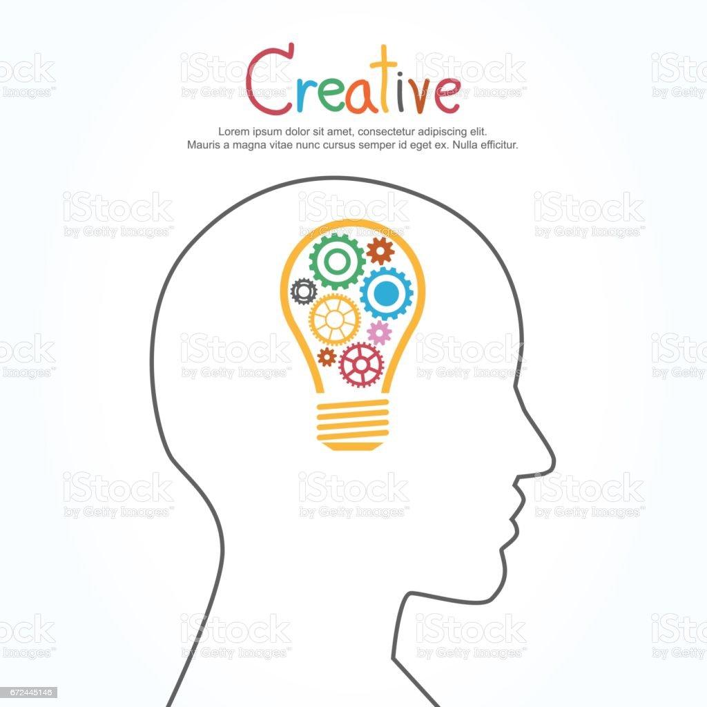 Design banner template - Creative Light Bulb And Gear Vector Design Banner Template Royalty Free Stock Vector Art