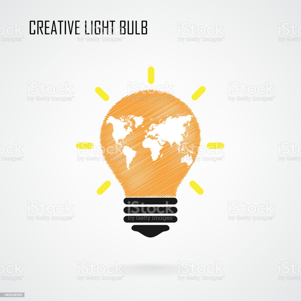 Creative light bulb Idea concept background royalty-free stock vector art