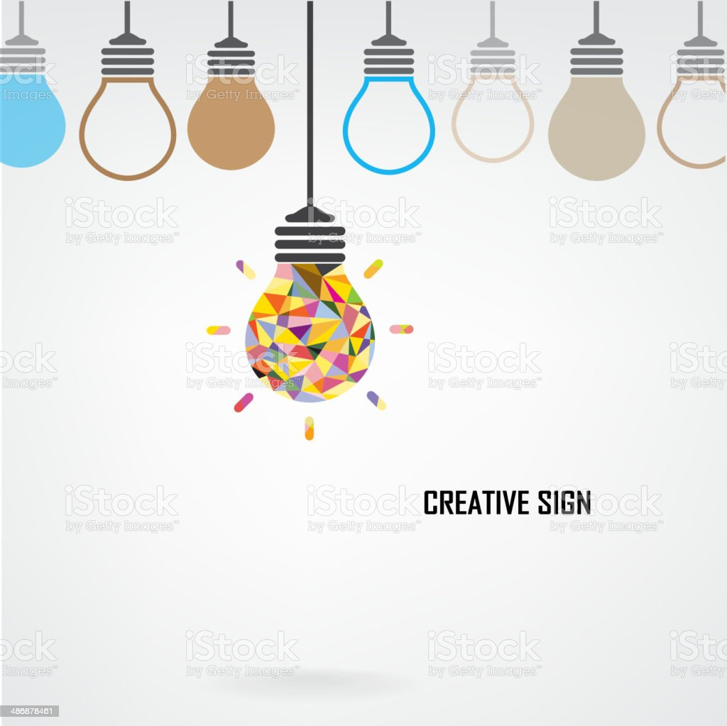 Creative light bulb Idea concept background vector art illustration