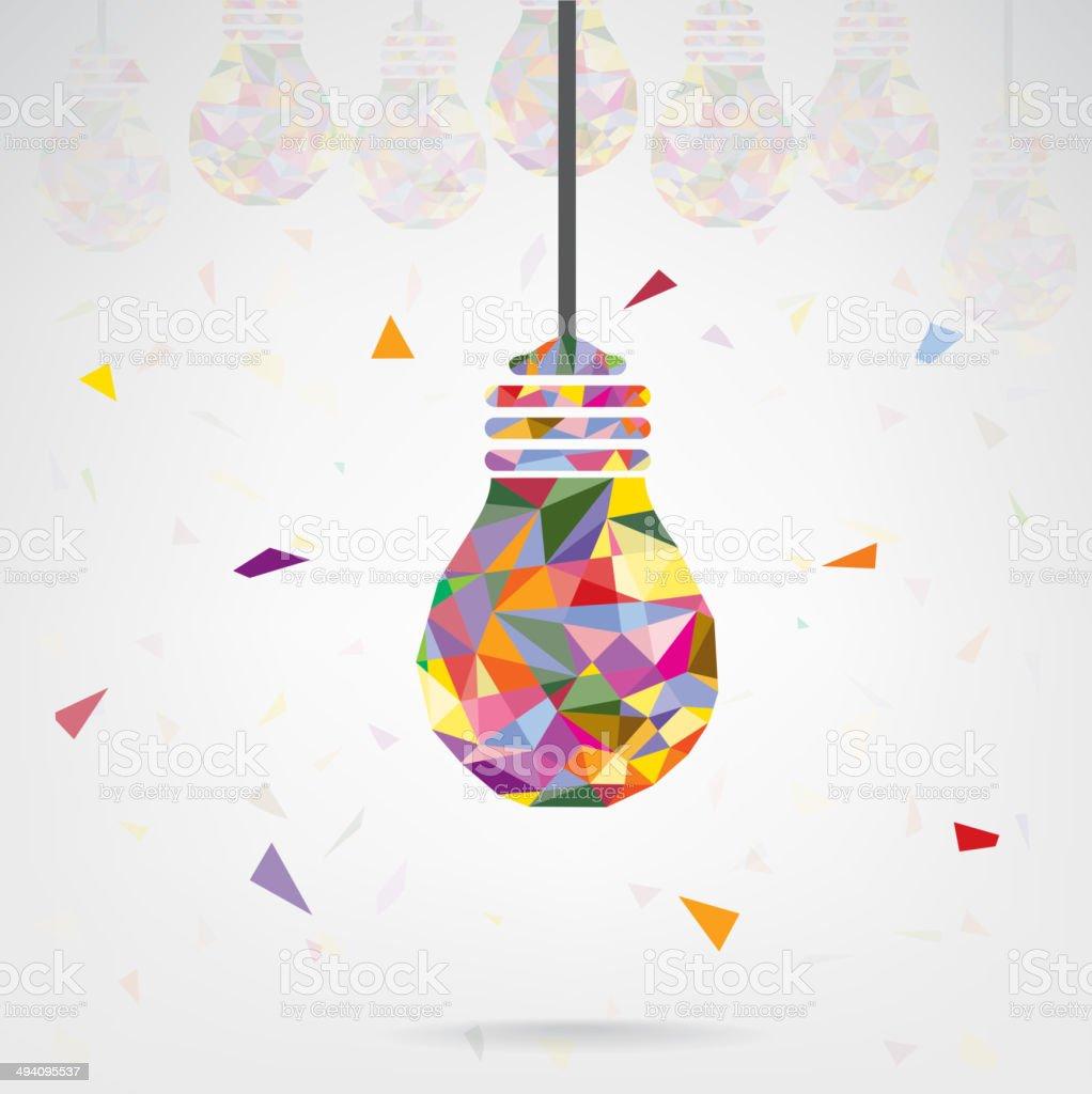 Creative light bulb Idea concept vector art illustration