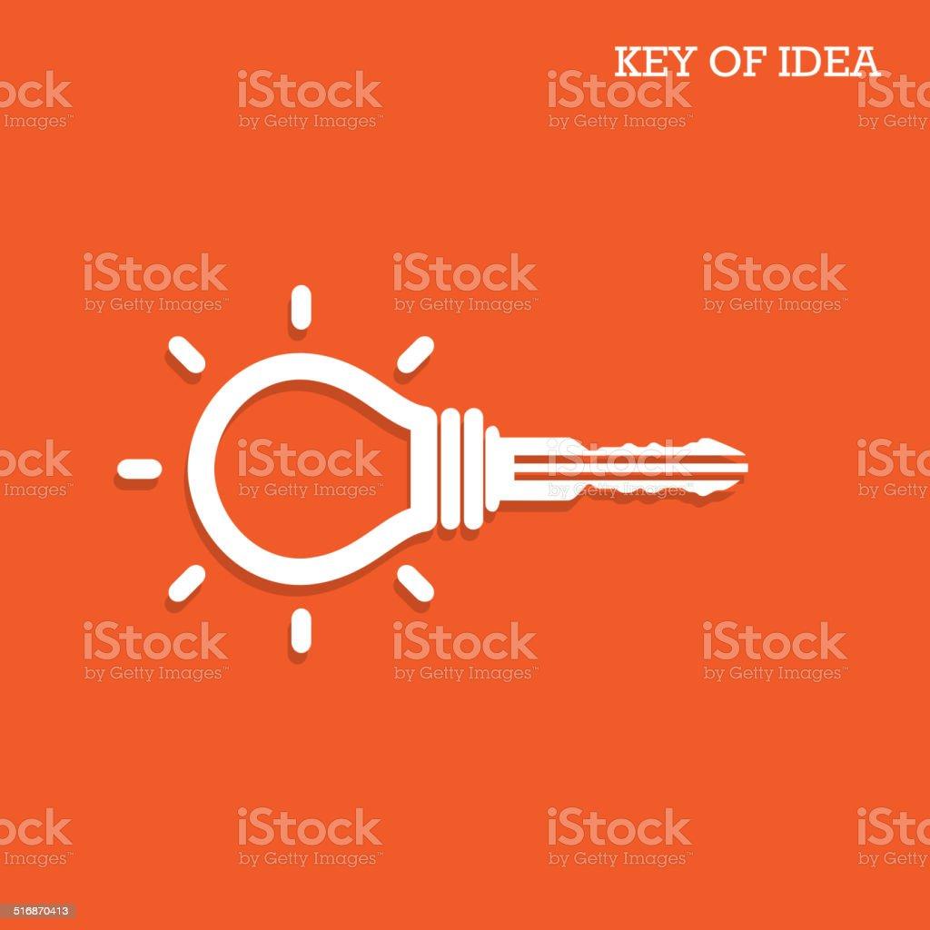Creative light bulb idea concept with padlock symbol vector art illustration