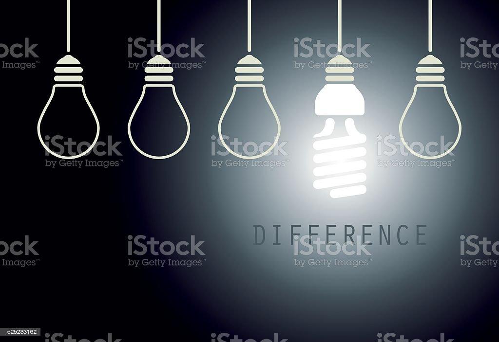 Creative Light Bulb Idea vector art illustration