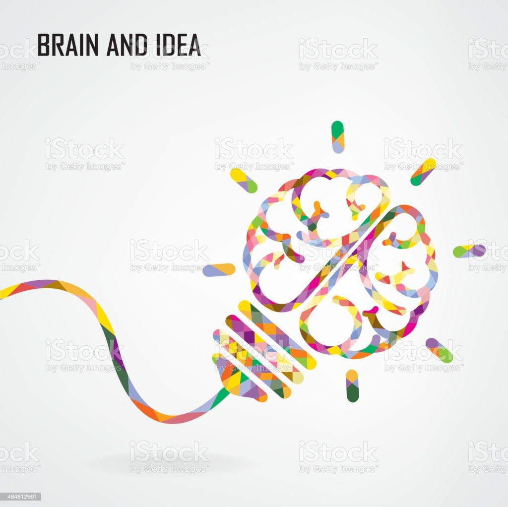 Creative light bulb sign Idea concept background vector art illustration