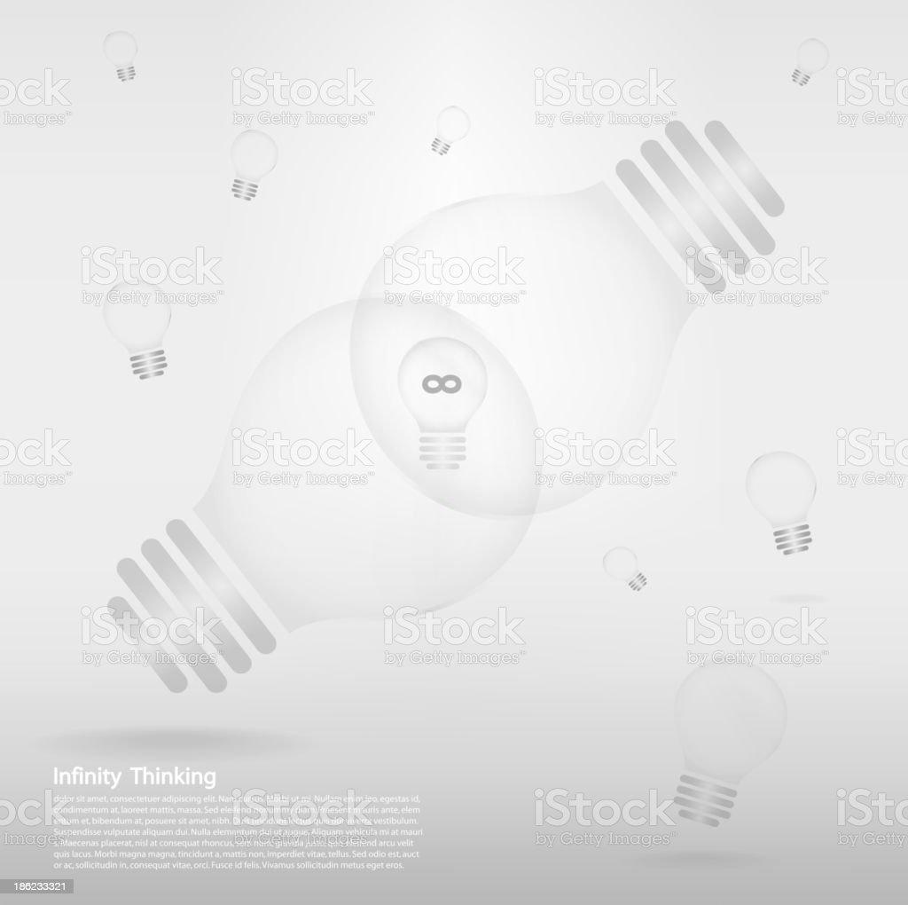 creative light bulb sign on background . royalty-free stock vector art