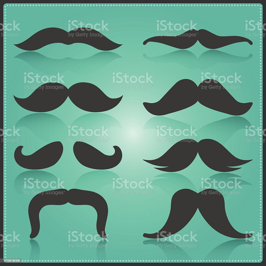 Creative Moustache Vector Template. Isolated Movember Moustache Trend. EPS10 Illustration vector art illustration
