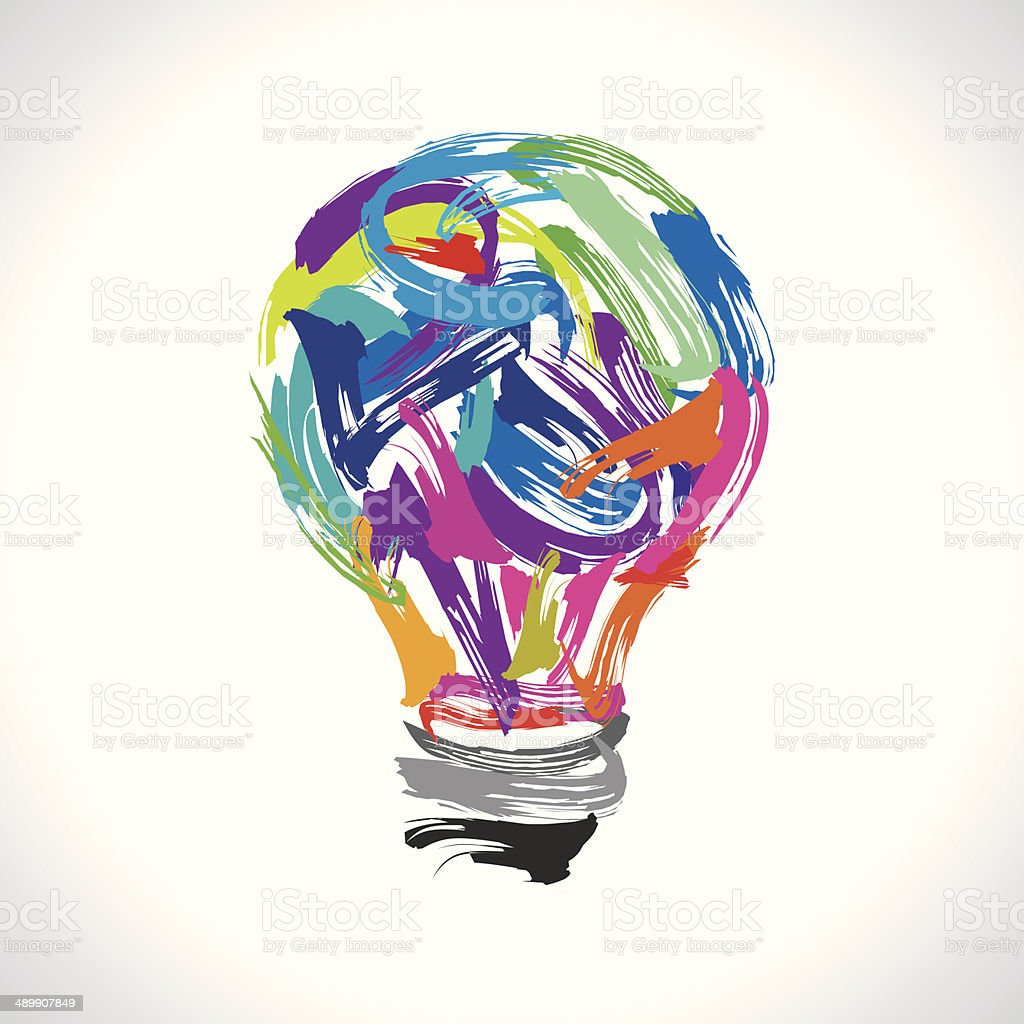 creative painting idea vector art illustration