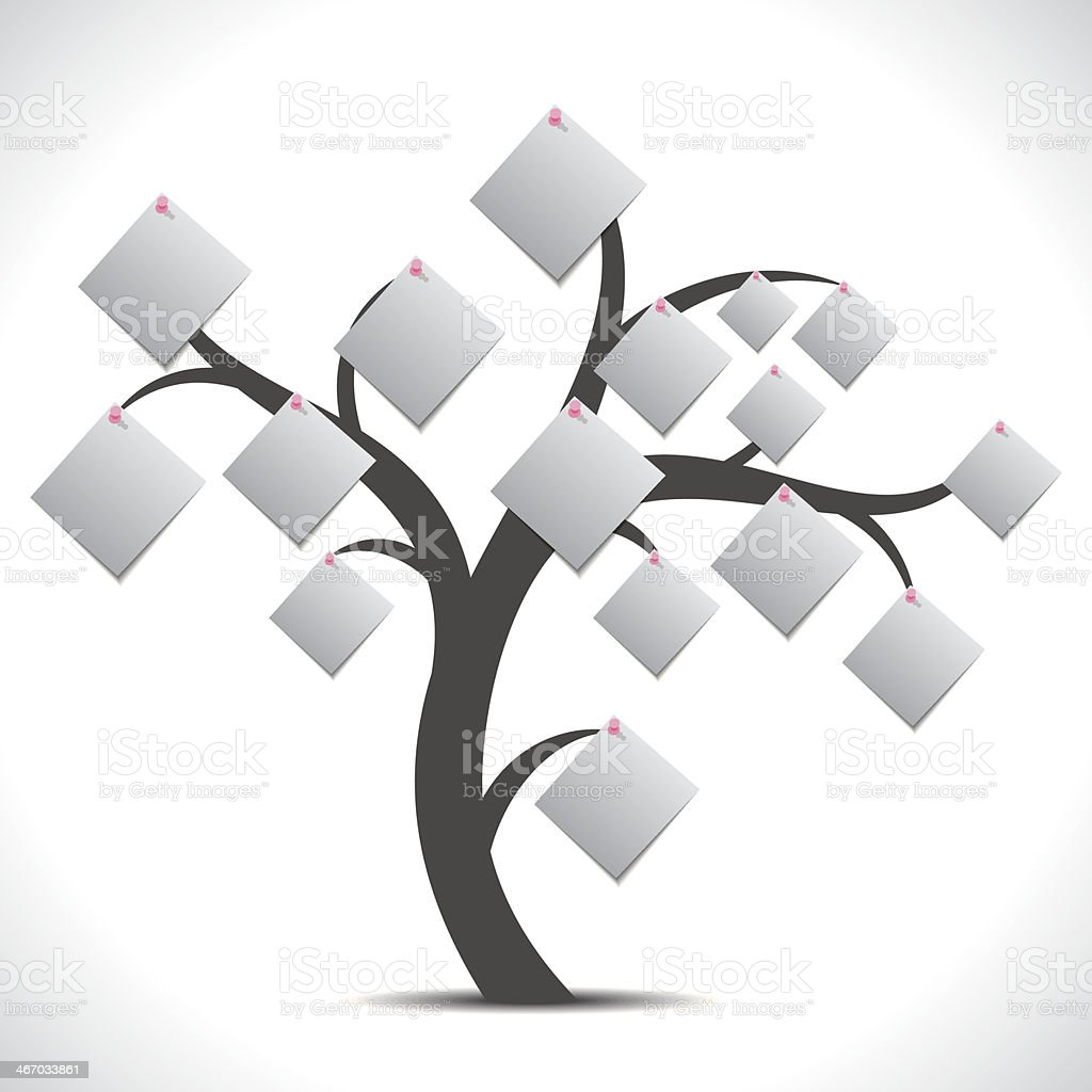 creative paper note tree royalty-free stock vector art