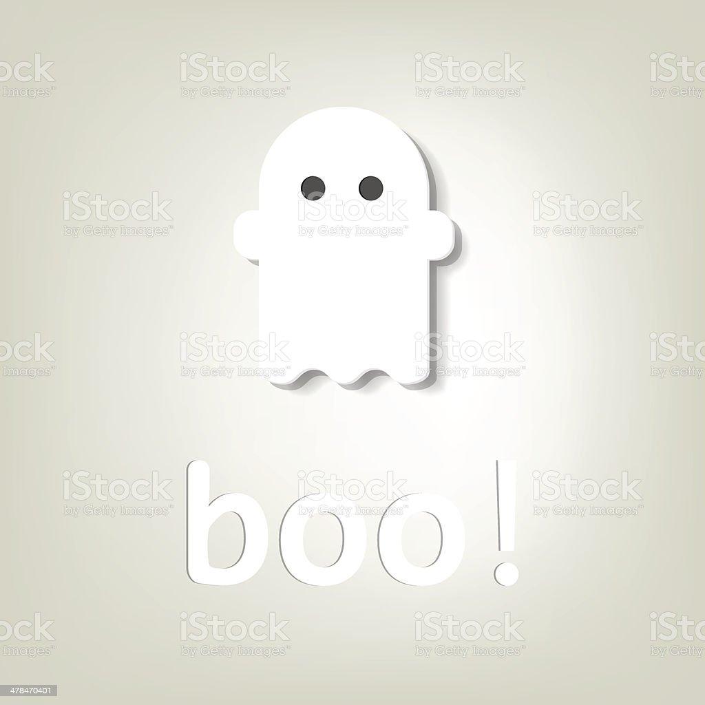Créatif affiche d'Halloween. fantôme de little stock vecteur libres de droits libre de droits