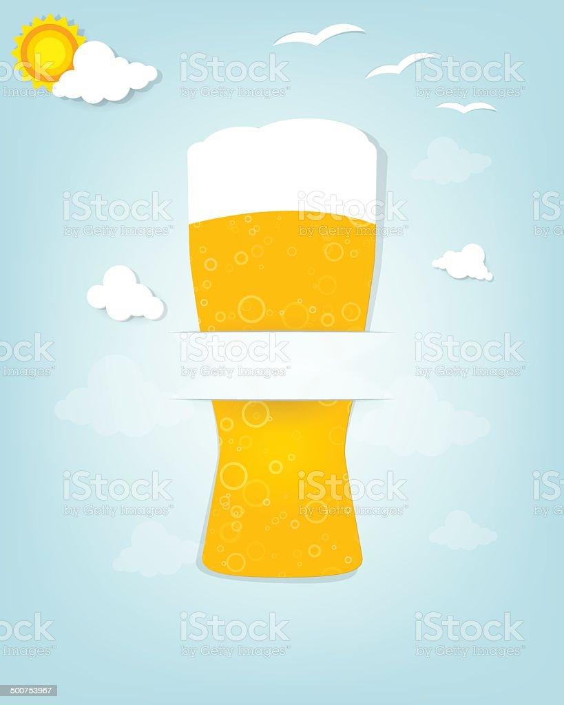 Créatif affiche avec un verre de bière stock vecteur libres de droits libre de droits