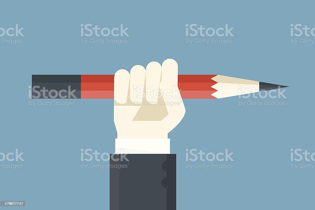 creative power vector art illustration