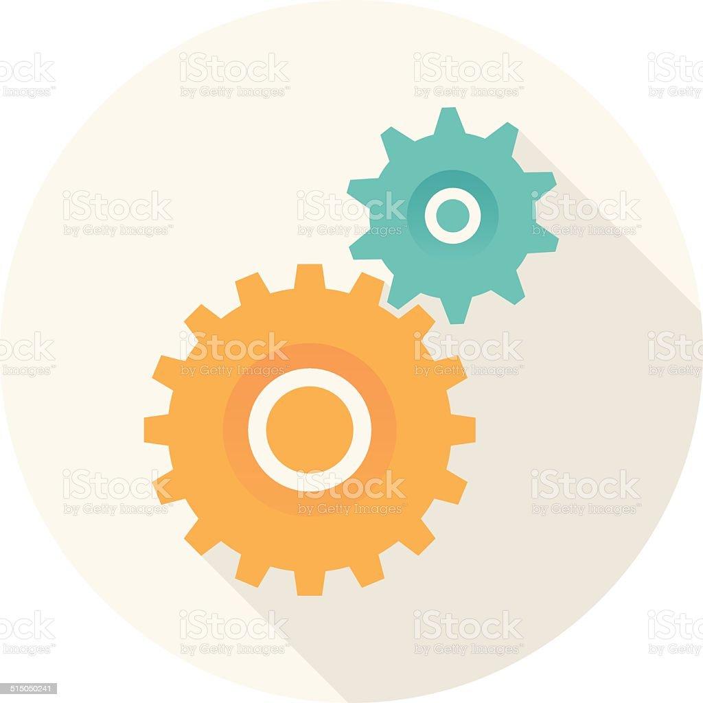Creative process icon vector art illustration
