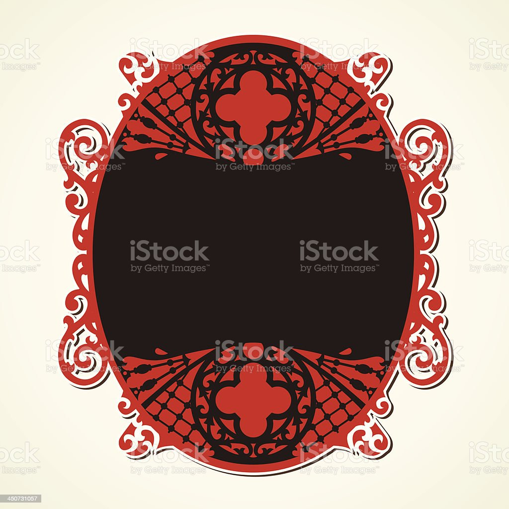 creative red vintage design royalty-free stock vector art