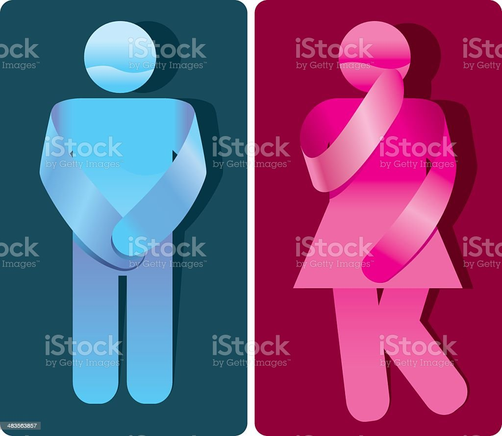 Creative Restroom Signs vector art illustration