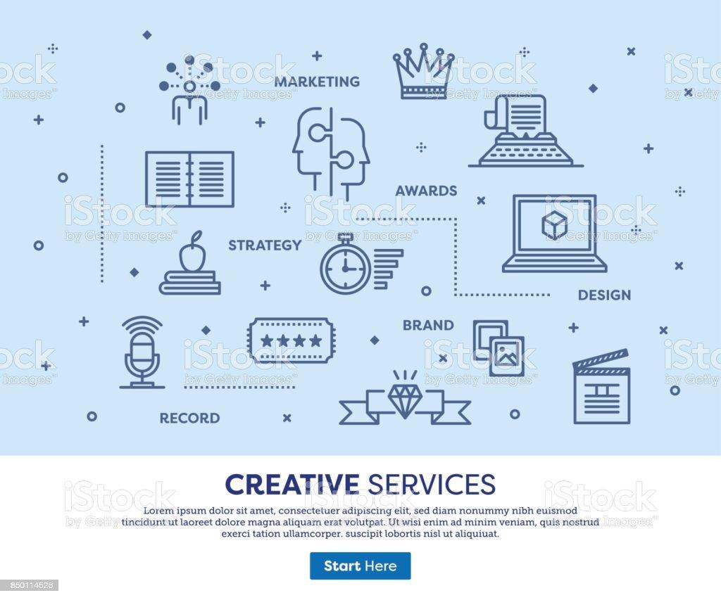 Creative Services Concept vector art illustration