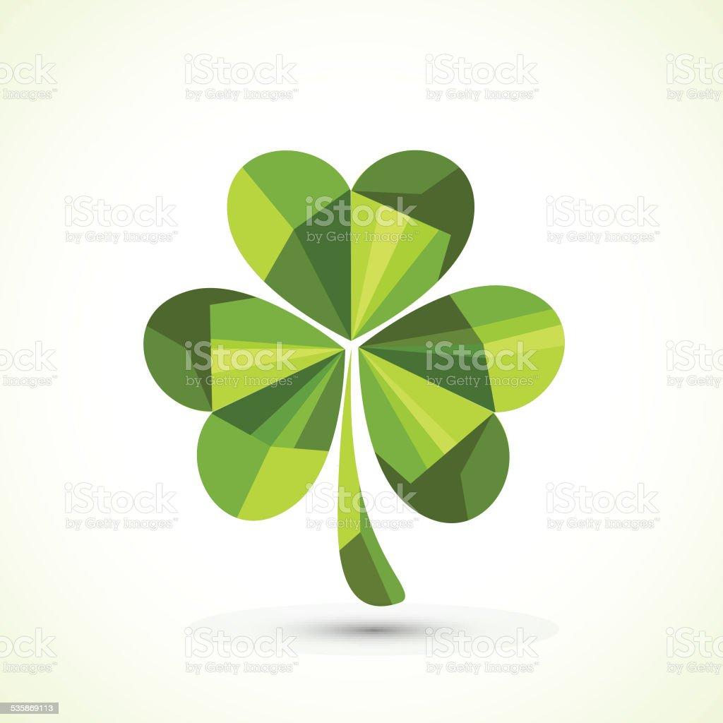 creative shamrock leaf for st patricks day celebration stock