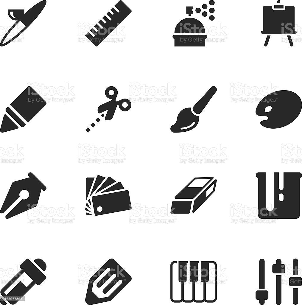Creative Silhouette Icons vector art illustration