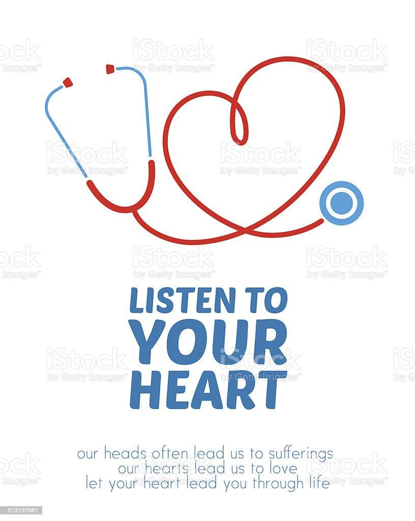 Creative stethoscope illustration vector art illustration