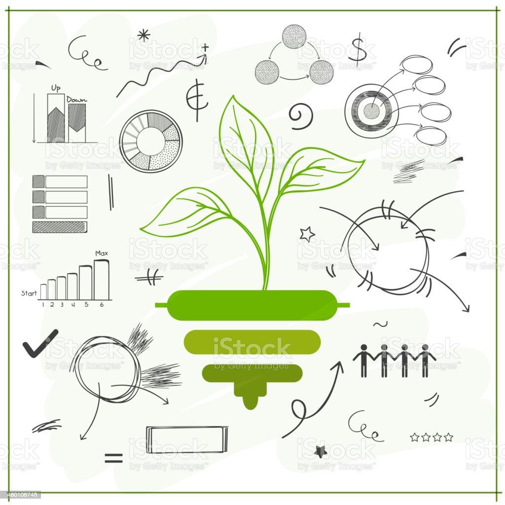 Creative stylish save ecological infographic elements. vector art illustration