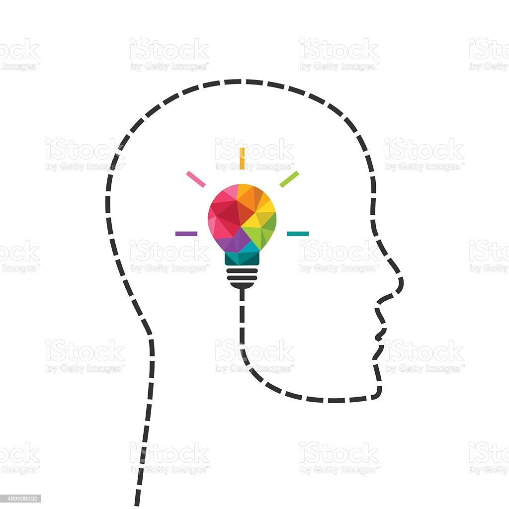 Creative thinking and learning concept vector art illustration