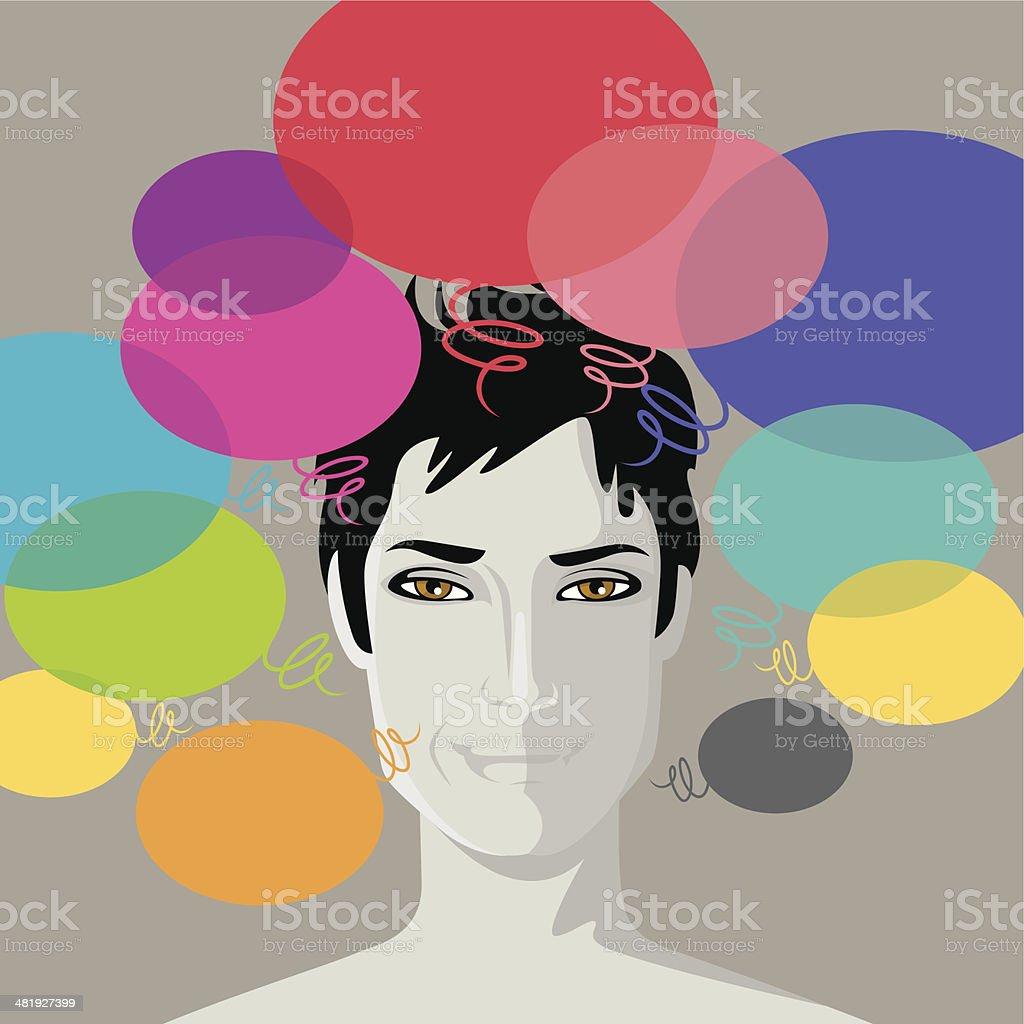 Creative thinking. royalty-free stock vector art