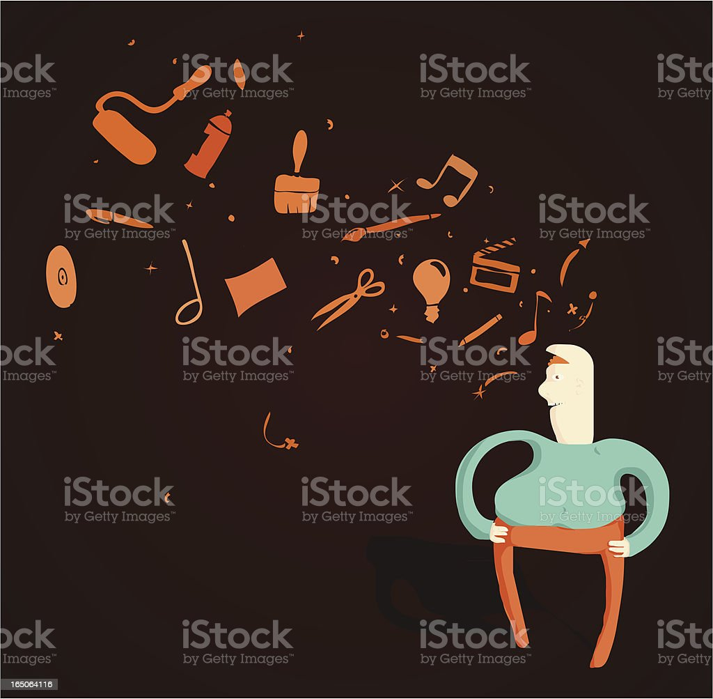 Creative Thoughts royalty-free stock vector art