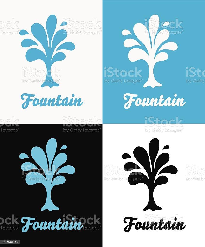Creative tree vector logo design template vector art illustration