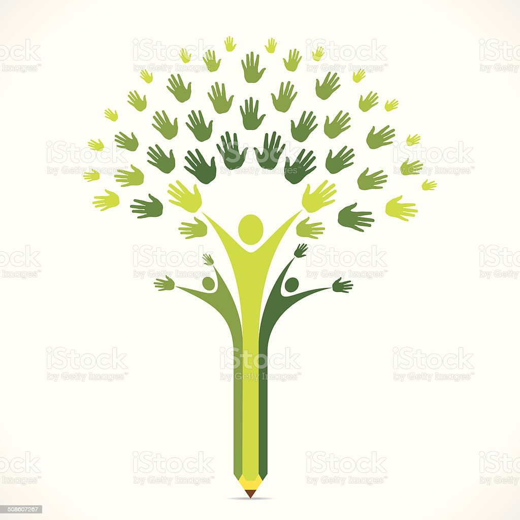 creative unity or support concept vector art illustration