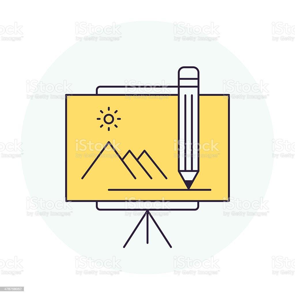 Creative Workshop Symbol vector art illustration