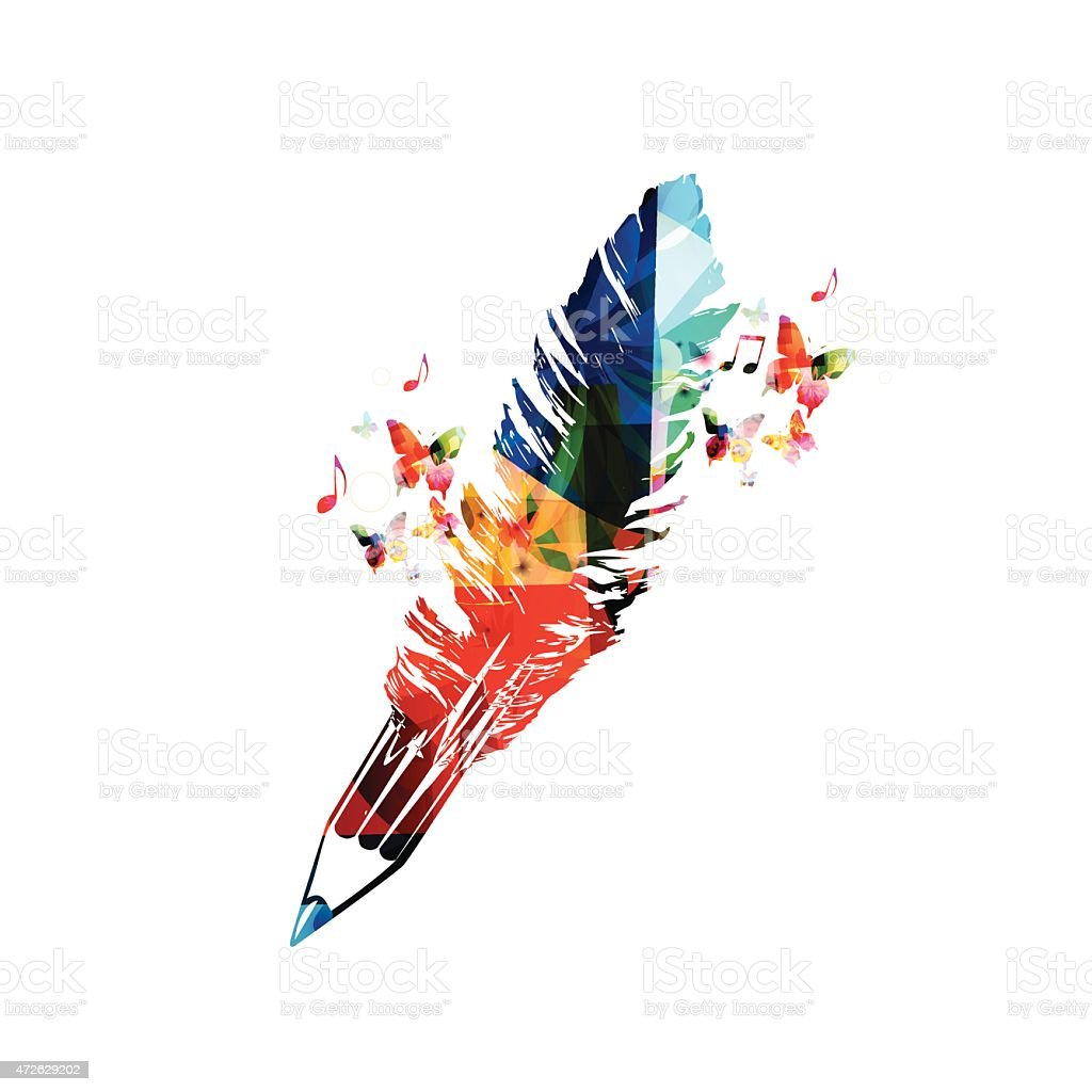 Creative writing concept vector art illustration