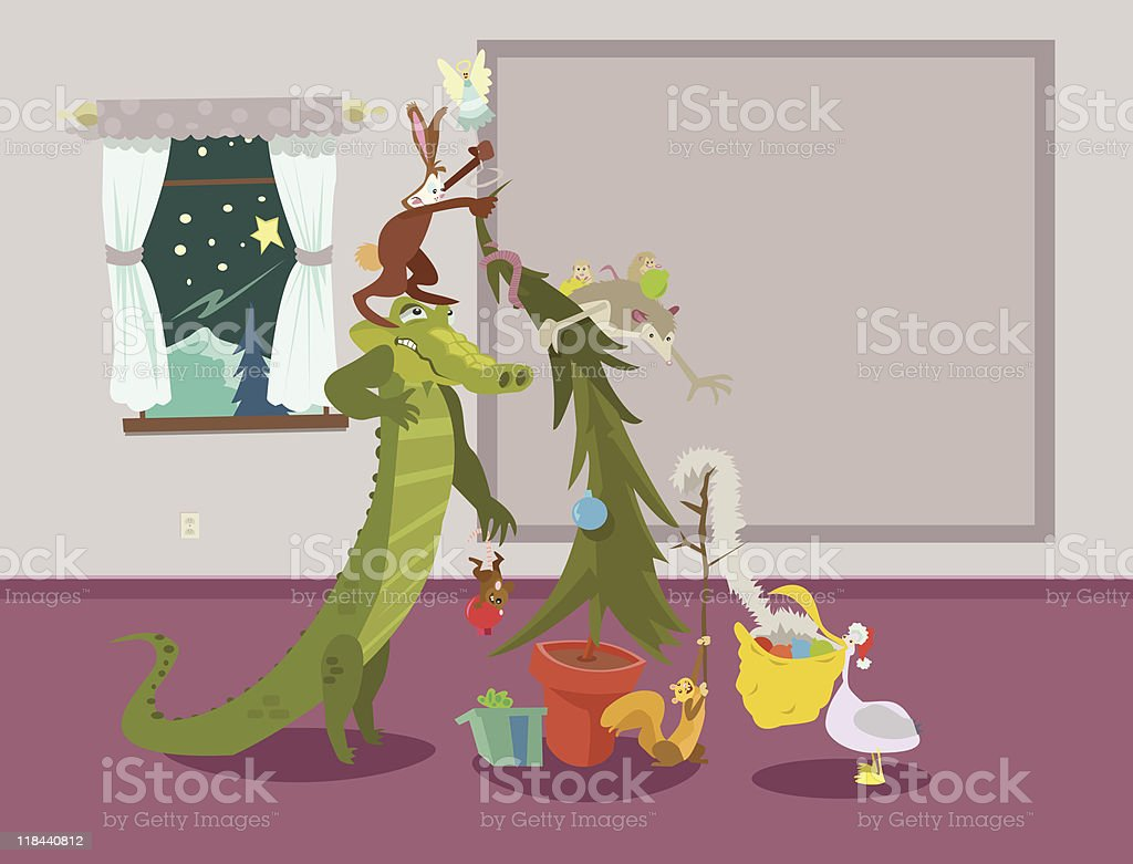 Creature Christmas royalty-free stock vector art