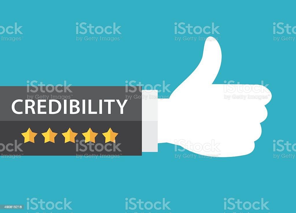 Credibility concept vector art illustration