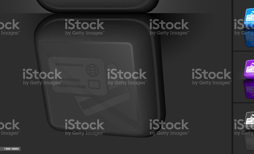 credit card 3D button design royalty-free stock vector art