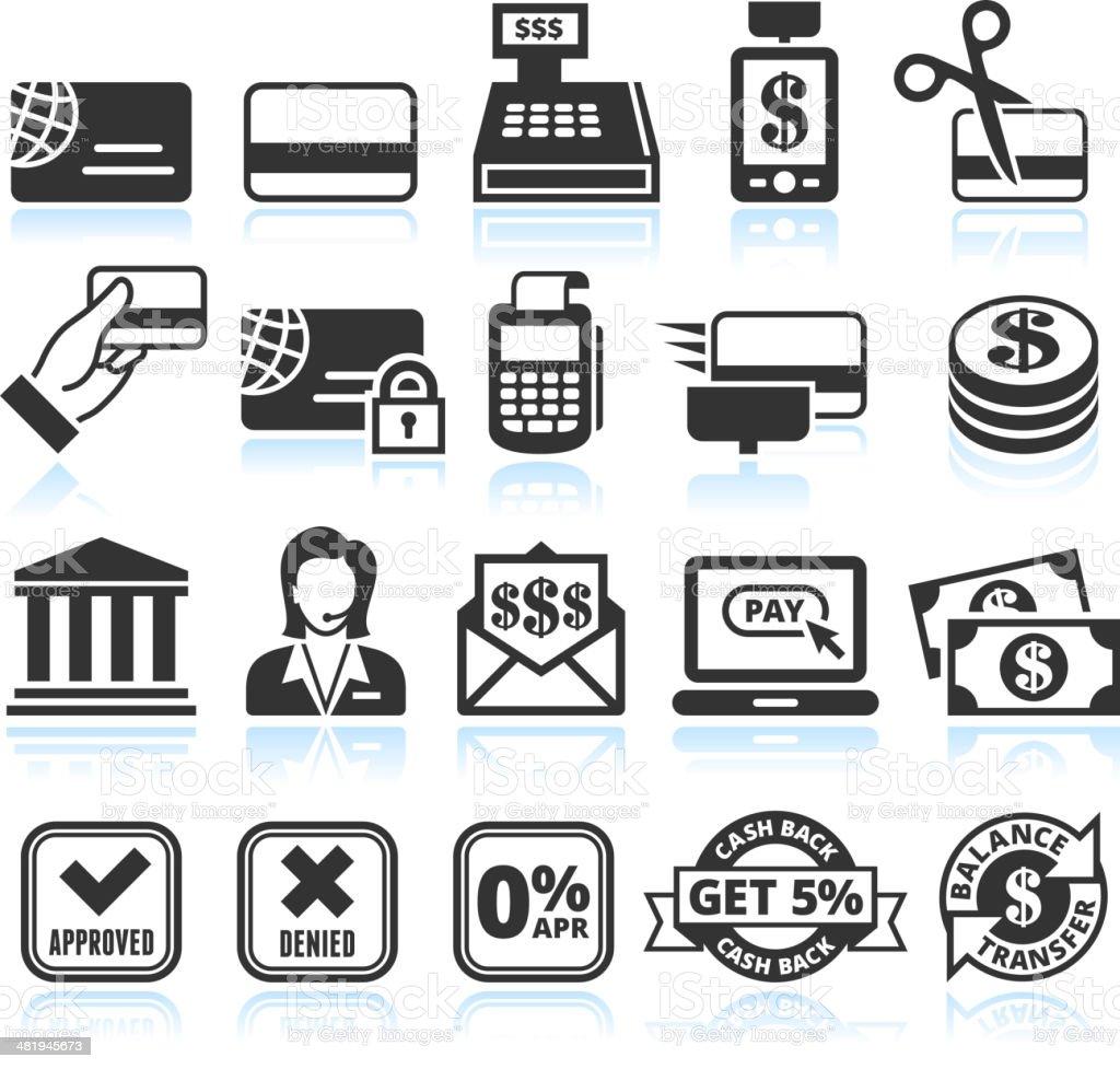 Credit Card Black and White Set vector art illustration