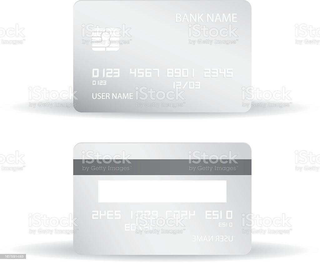 Credit card blank design templates royalty-free stock vector art