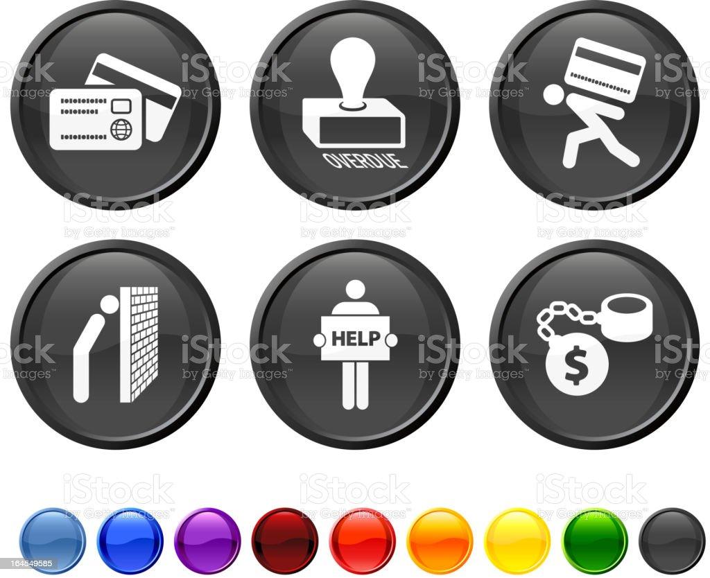 credit card debt royalty free vector icon set royalty-free stock vector art