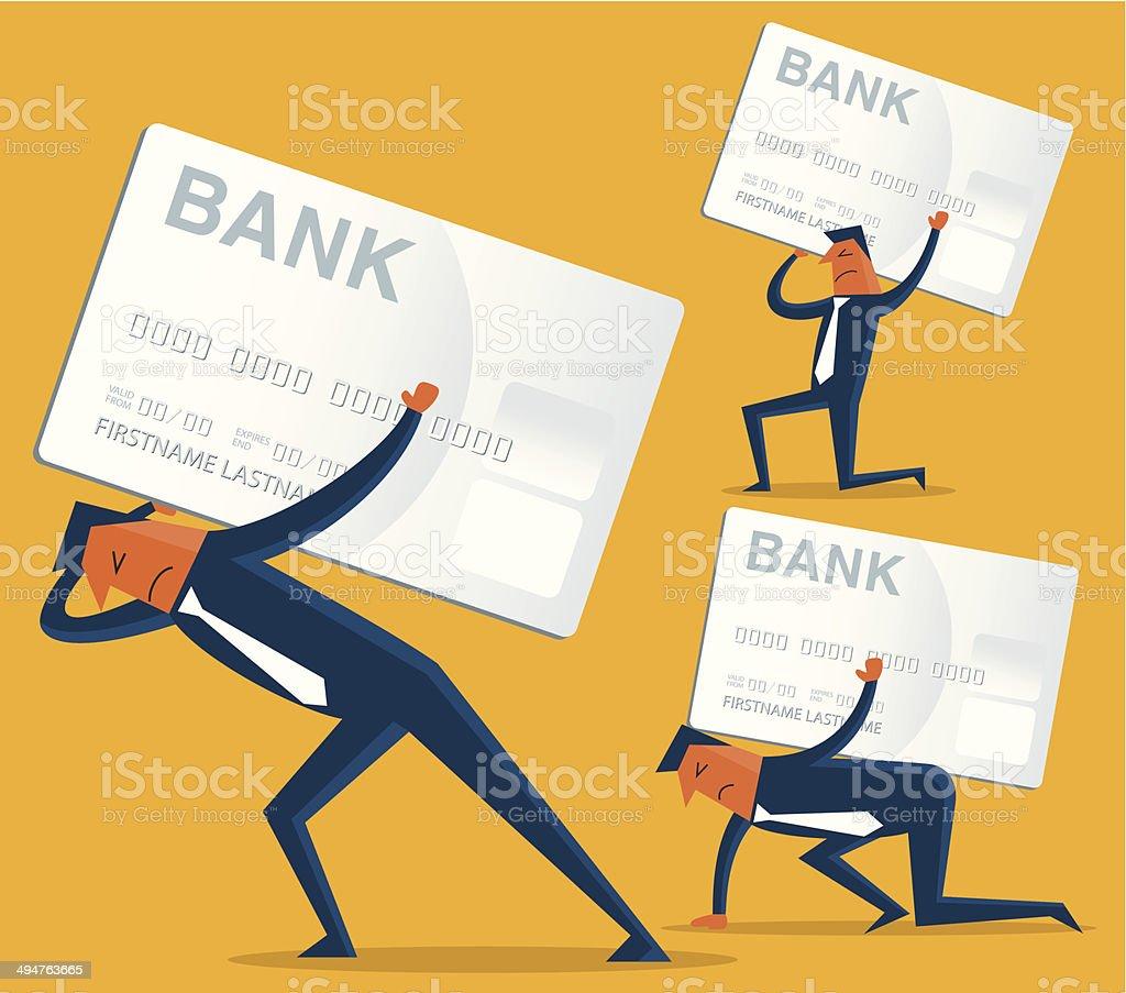 Credit Card Debt vector art illustration