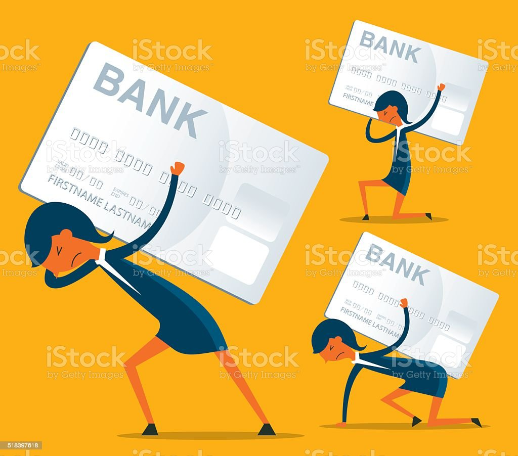 Credit Card Debt vector art illustration