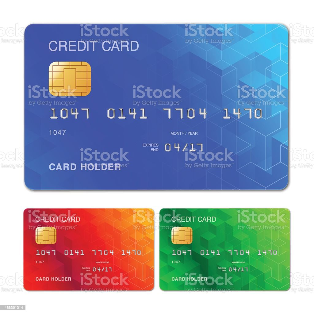 Credit Card Design vector art illustration