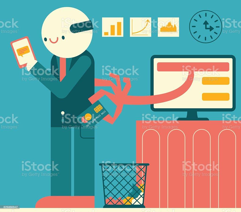 Credit Card Fraud vector art illustration