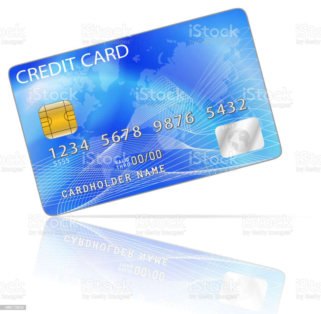 Credit Card Icon Isolated on White vector art illustration
