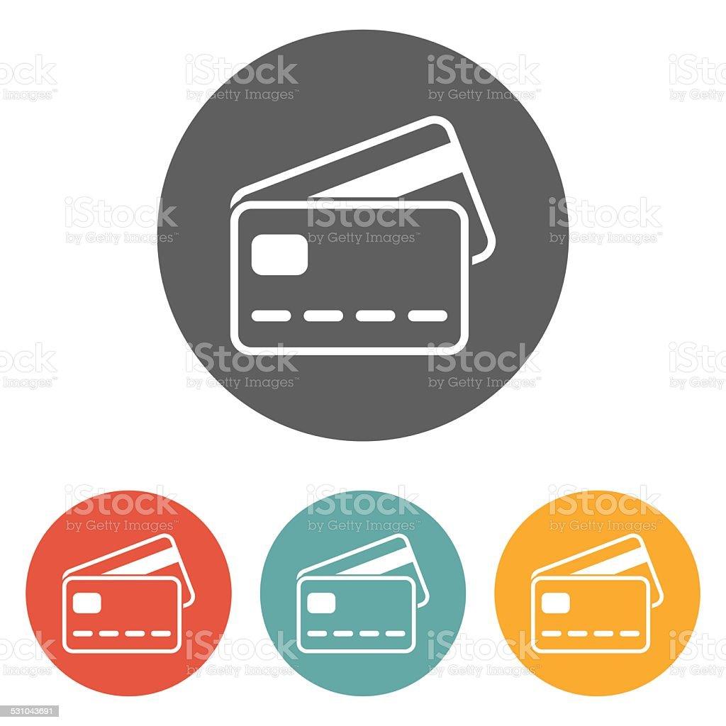 credit card icon vector art illustration